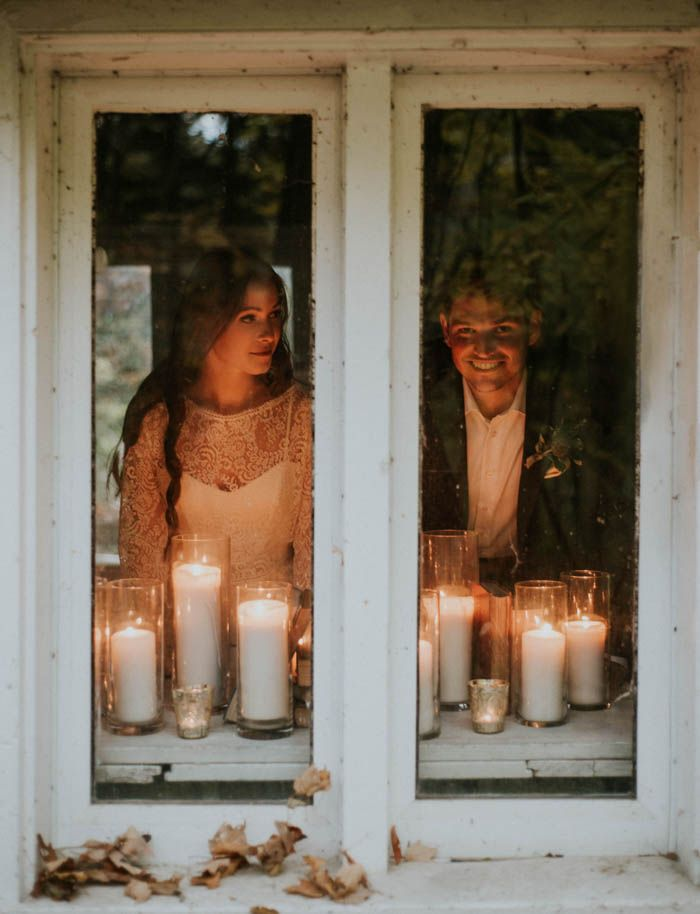 nothing like candles to make your fall wedding even more romantic  | Image by Gaetz Photography