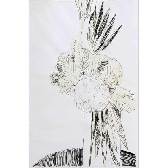 Andy Warhol<br /> Flowers 172/250. Serigrafia colorida a mão, 102x69 cm, 1974, A.C.I.D.