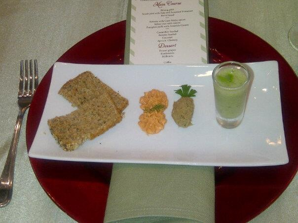 south african starter farm bread, snoek patee, biltong patee and cucumber soup