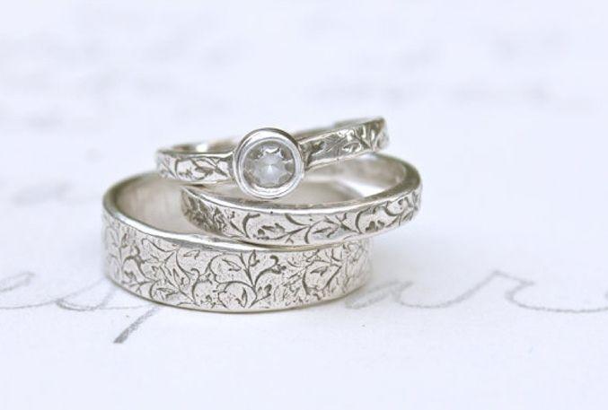 Sweet Violet Bride - http://sweetvioletbride.com/2012/09/10-beautiful-nature-inspired-engagement-rings/
