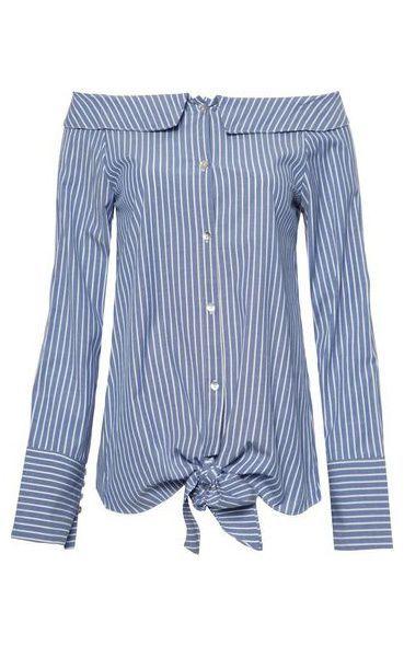 3dd1264a3828d8 Camisa listras ombro a ombro - azul