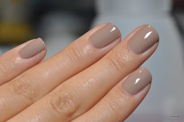 Nude Nails - actually Taupe are just right for any style.