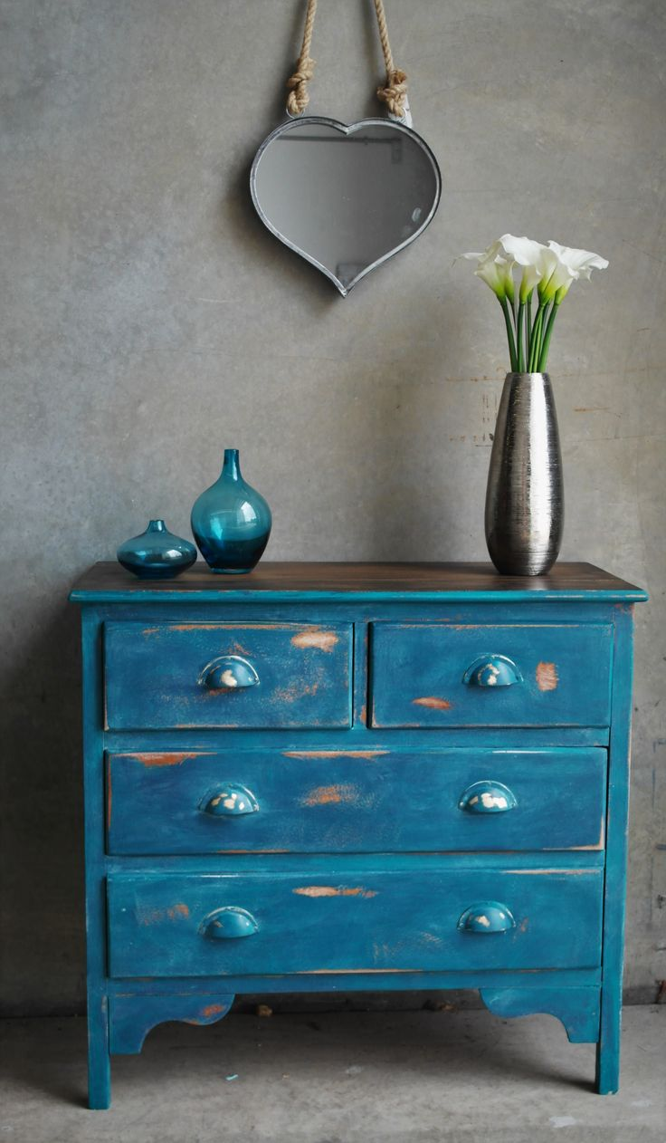 Blue and Teal drawers