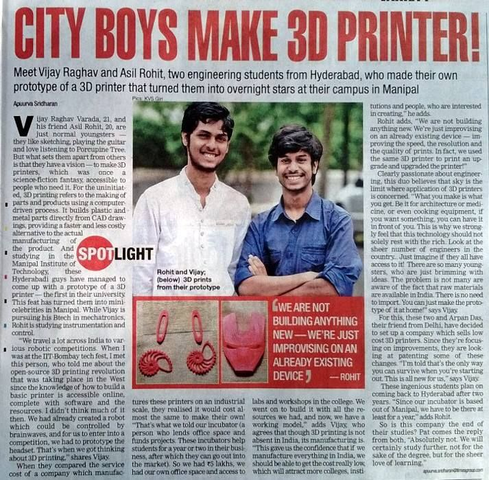 We were featured on Times of India!