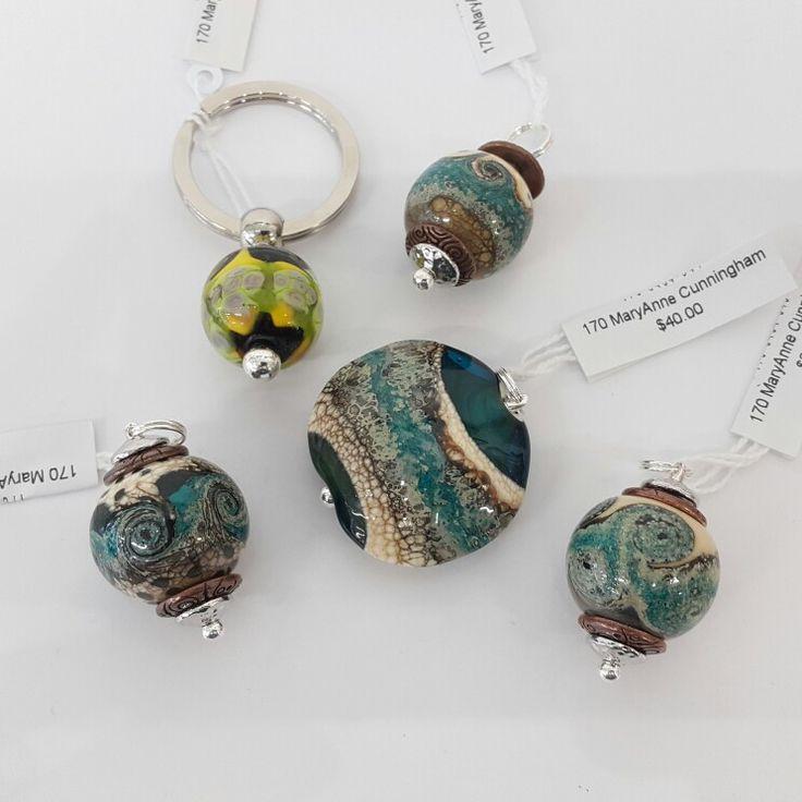 Earth balls and pendants flameglass