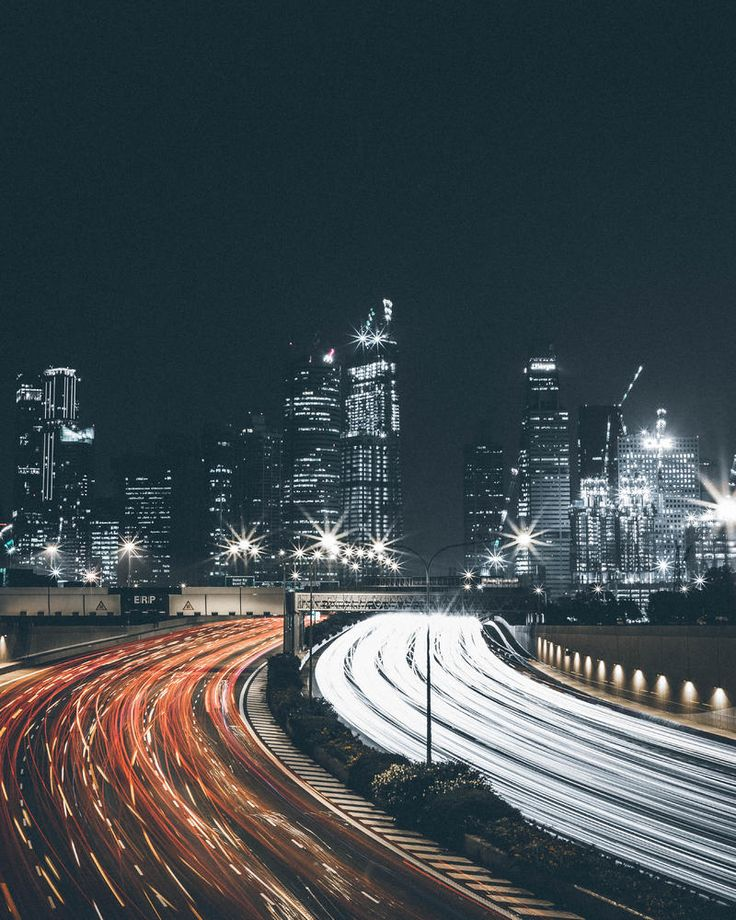 City, Night And Long Exposure HD Photo Download