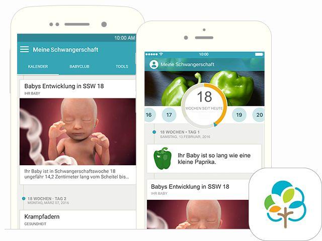Holen Sie sich die Schwangerschaft-app von BabyCenter: 'Meine Schwangerschaft & mein Baby heute' - mit Stichtagrechner, Schwangerschaftstipps, Videos und Checklisten für Sie