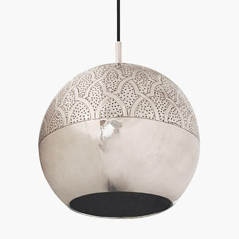 Silver Moroccan Pendant Light
