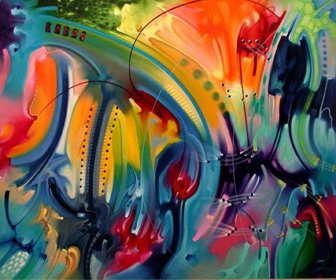 pinturas abstractas modernas para sala