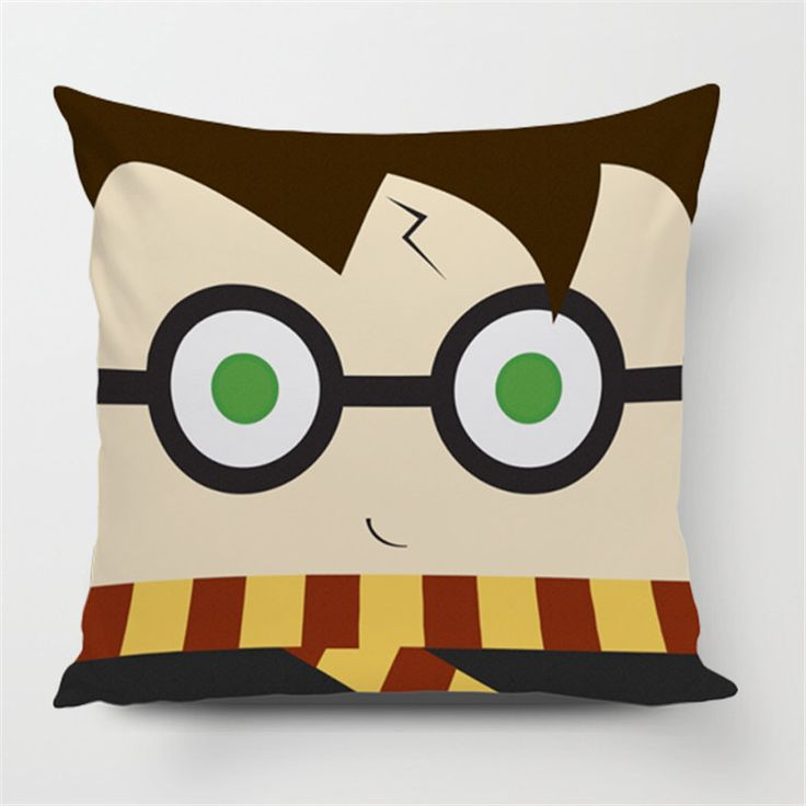 """Square 18"""" Harry Potter Movie cushion cover Decorative Cushion Covers for Sofa Car Chair Home Decor Customozed Drop Shipping"""