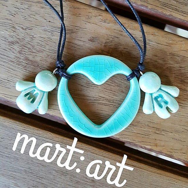 #collana #bijoux#handmed# mamma#personalizzate# con nome# bimbi#ceramica #ceramicart #ceramicartist #handmed #argilla #terracotta #artigianato #fattoamano #lemaddine #creativemamy #percorsicreativi