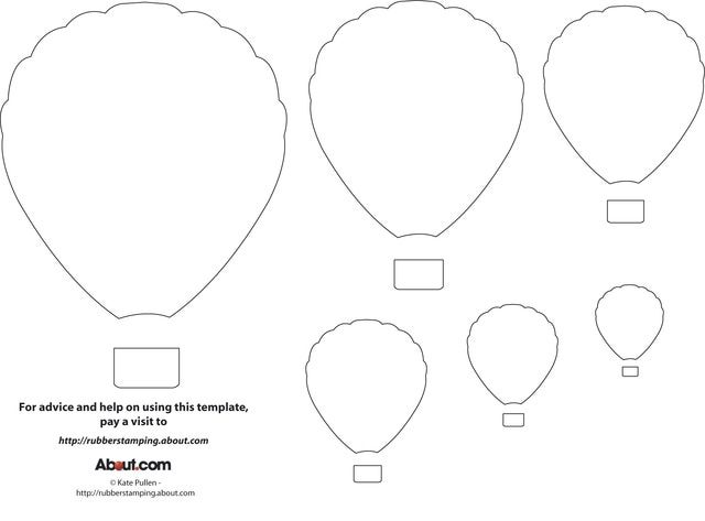 Repinned. Here's a Free Printable Hot Air Balloon Template for Your Crafting Projects: Free Hot Air Balloon Template