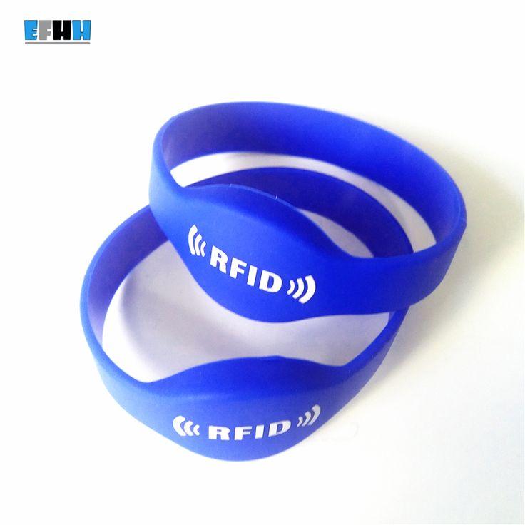 13.56 Mhz FM11RF08 MF 1 K S50 RFID Bilezik Silikon NFC Bileklik İzle Kart Bilek Bant Erişim Kontrolü Kart Mavi