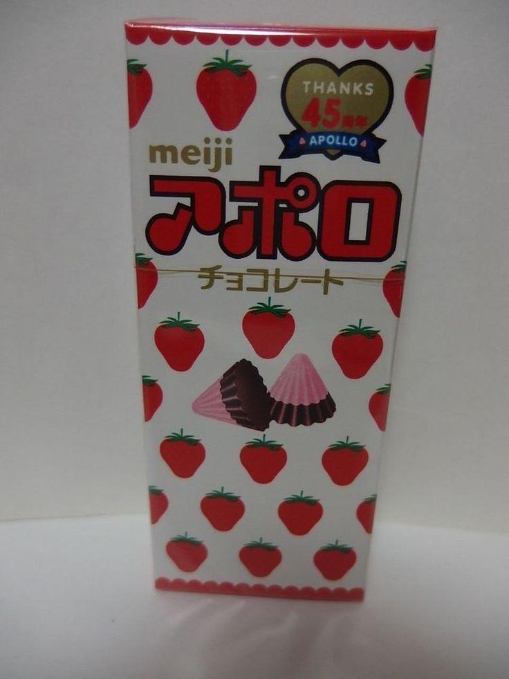 meiji Japan APOLLO CHOCOLATE 48g Triangle type chocolate of strawberry free ship #Glico