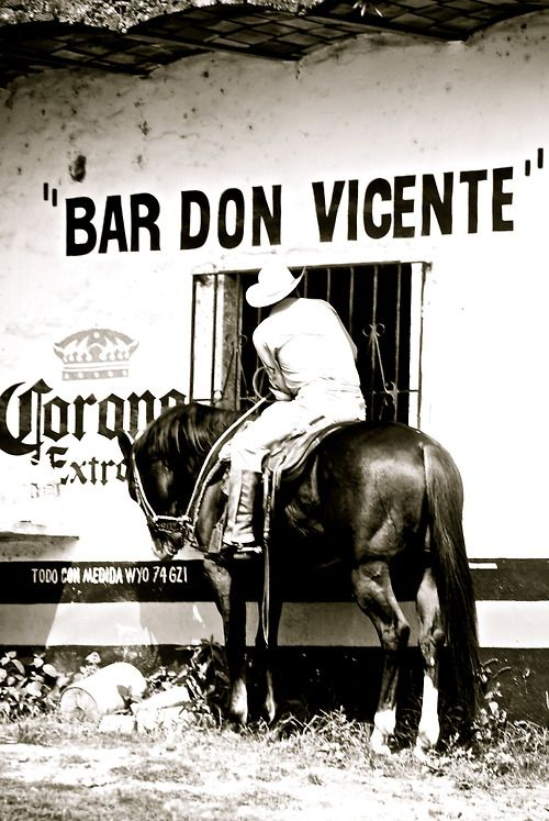 Yes - They still do have cowboys that ride up to bars on horseback in Mexico