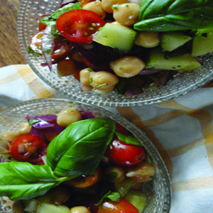 Chickpea and Tomato Salad - Great as a side dish or a snack!
