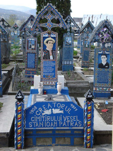 Stan Ioan Pătraş carved the crosses until his death in 1977. His tombstone at…