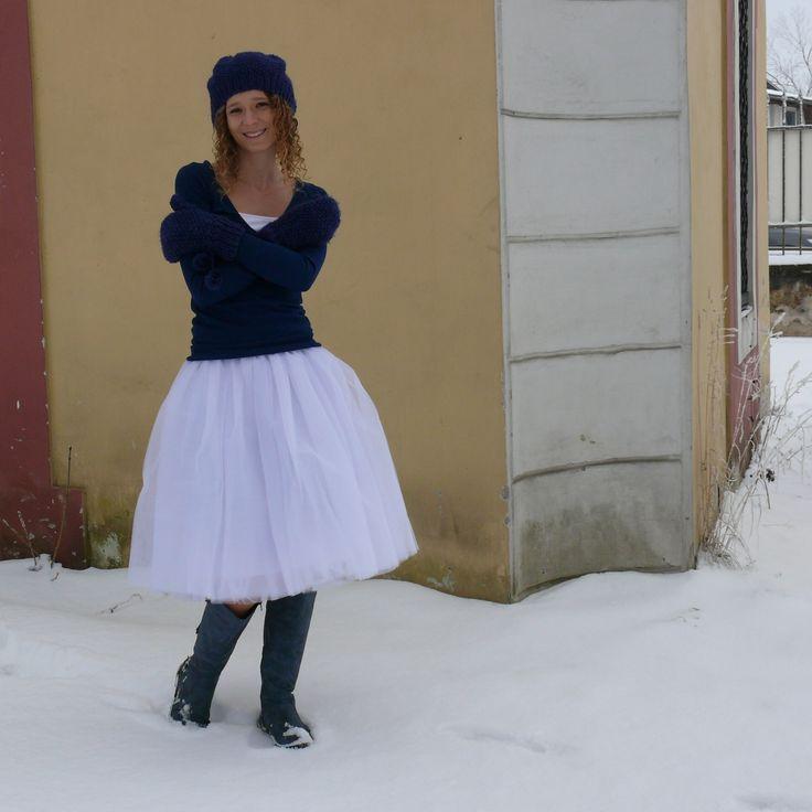Tylové sukně | z jemného tylu | Bílá tylová sukně | Princezna Pampeliška e-shop