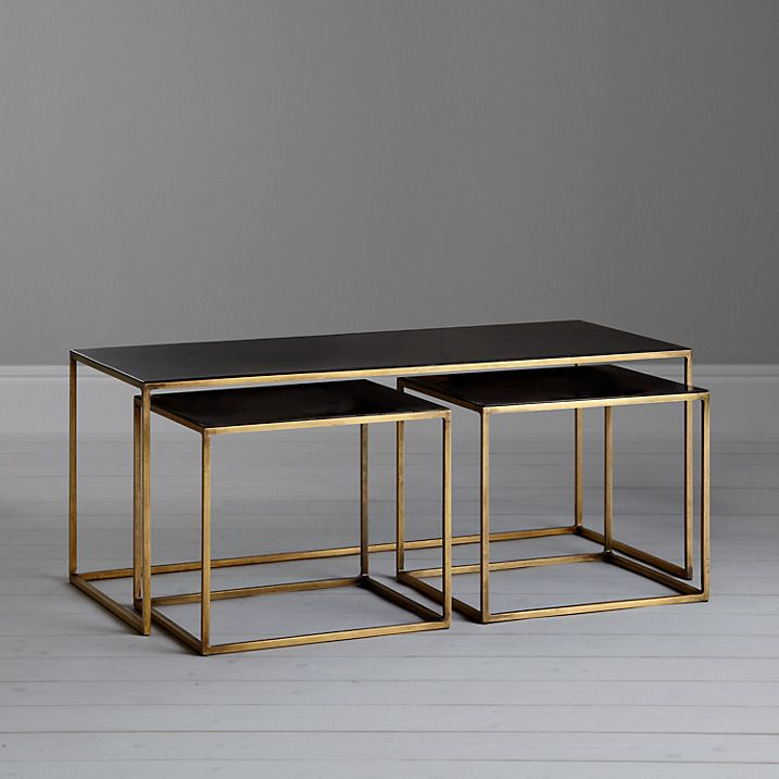 Buy Content by Conran Coffee Table and 2 Side Tables, Black Online at johnlewis.com