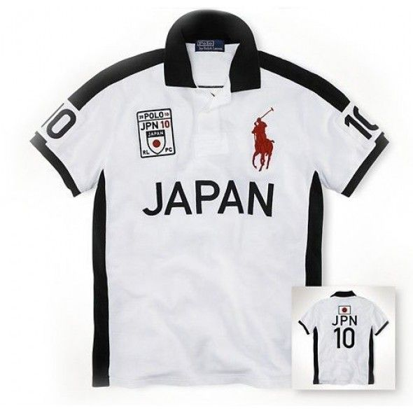Lauren Lauren Big Pony JAPAN Signature Symbol White Sport Polo http://www.