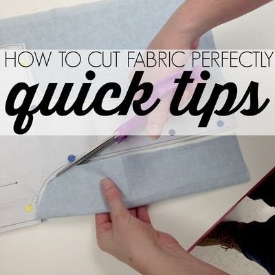 How to Cut Fabric Perfectly. This is a skill, people. Learn how to cut fabric perfectly with the help of this handy article.
