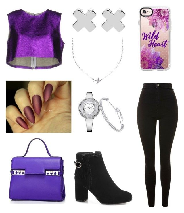 """Untitled #130"" by fashionstyleideas4now on Polyvore featuring Revise, Topshop, Casetify, Witchery and Minnie Grace"