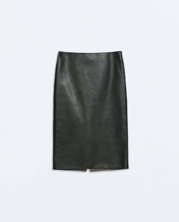 SYNTHETIC LEATHER PENCIL SKIRT from Zara