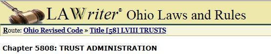 Ohio Revised code for Trust(ee) Administration:  5808.01 Duties of trustee generally. http://codes.ohio.gov/orc/5808