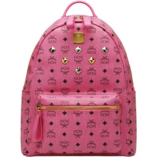 Best-selling MCM Backpack for girls, all pink. Medium size (33 ...
