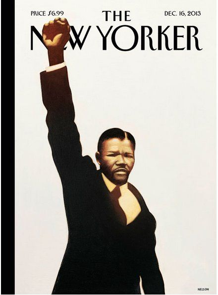 """The New Yorker cover is entitled, """"Madiba,"""" Nelsons Mandela's tribal name, and is the artwork of author and artist Kadir Nelson."""