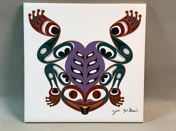 Frog by Joe Wilson Ceramic Tile/Trivet Canada