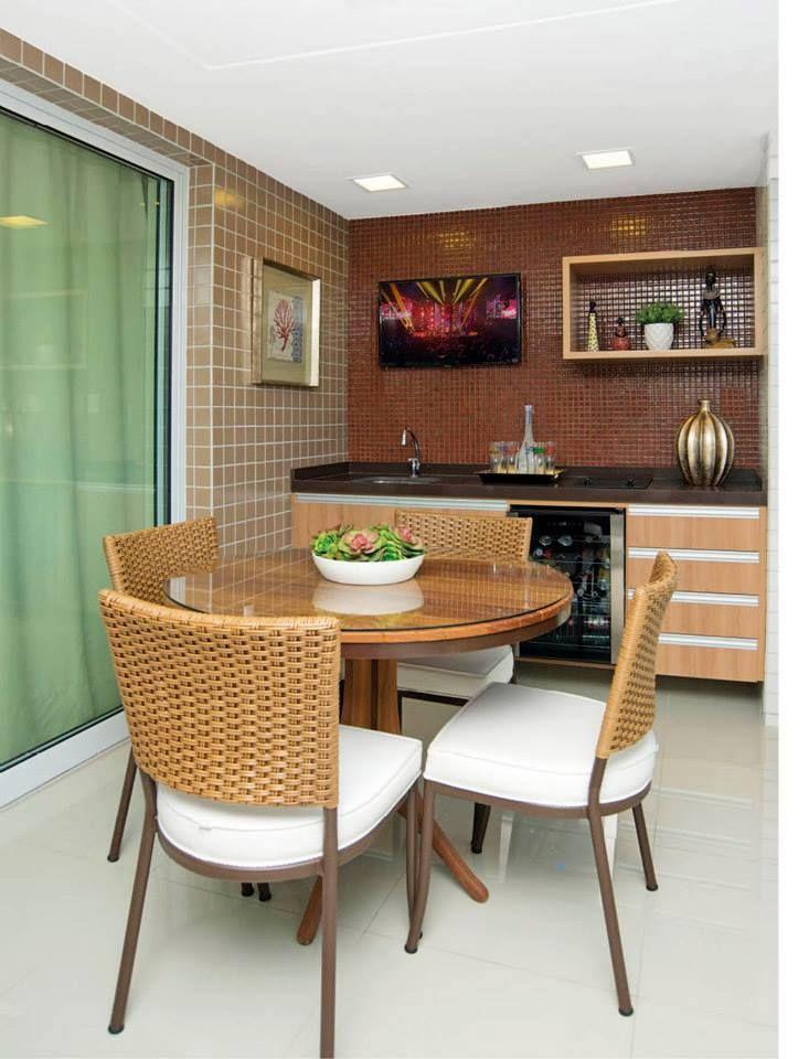 Mesa redonda palha varanda gourmert pinterest mesas - Mesas pequenas ...