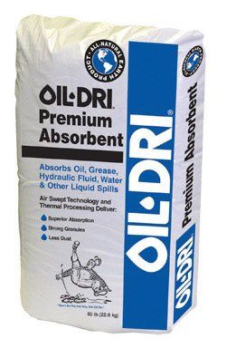 50LB Oil Absorbent  50LB Oil Absorbent 50 LB, Industrial Oil Absorbent, Soaks Up Liquid Spills From Floors & Driveways, Ideal For Traction Control On Snow & Ice.  http://www.newmotorcyclestore.com/50lb-oil-absorbent/