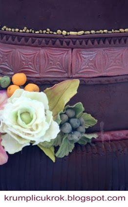 cake with sugar flower by Lipovszky-Drescher Mária