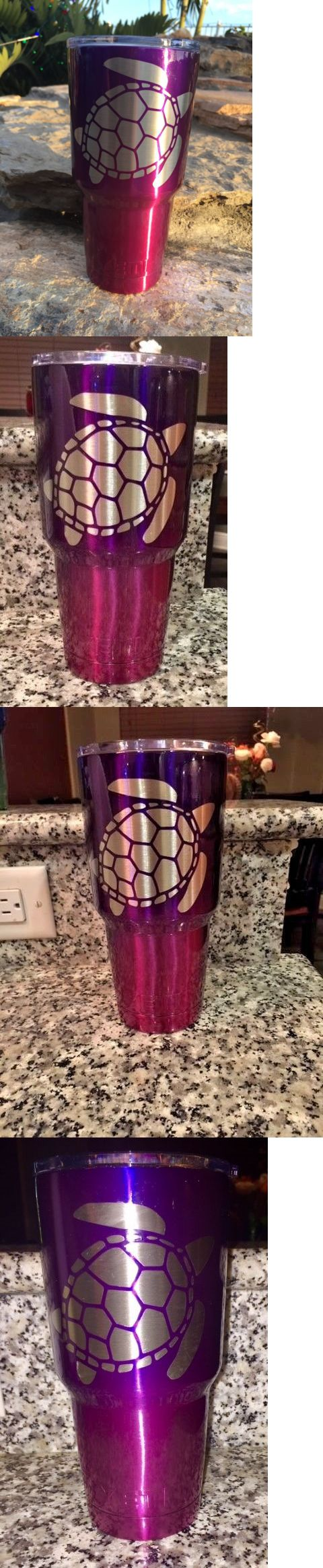 Other Camping Cooking Supplies 16036: Custom Powder Coated Yeti 30 Oz Rambler With Sea Turtle Logo Purple Pink -> BUY IT NOW ONLY: $48.52 on eBay!