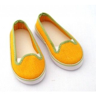 Sunshine Shoes: The perfect accompaniment to the Outdoor Odyssey outfit are these slip-on yellow runners.