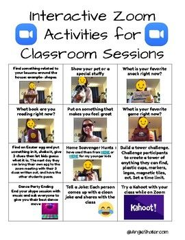 interactive zoom activities for classroom sessionsover 18