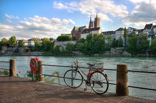 Basel, SWITZERLAND .  Looking across the Rheine. Ah Baselstadt!
