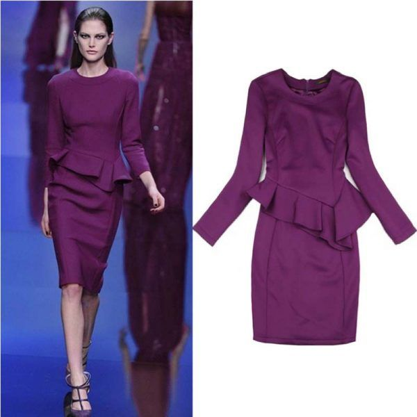 Dark Purple Work Dress