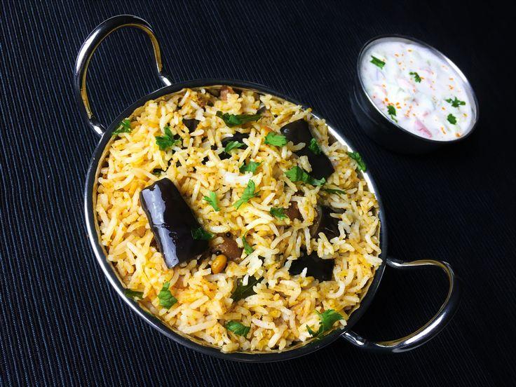 Vangi Bhath (Eggplant Pilaf) - SpicyTamarind