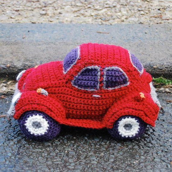 PDF Crochet Pattern for Hug-A-Bug Cuddly car based door SnuginaDub