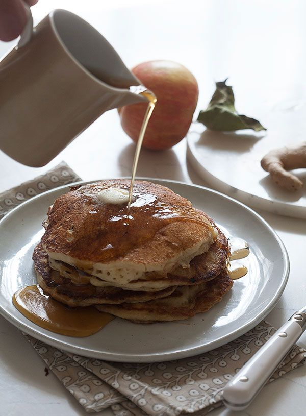 Weekends at the apple picking fields call for Apple Pancakes!