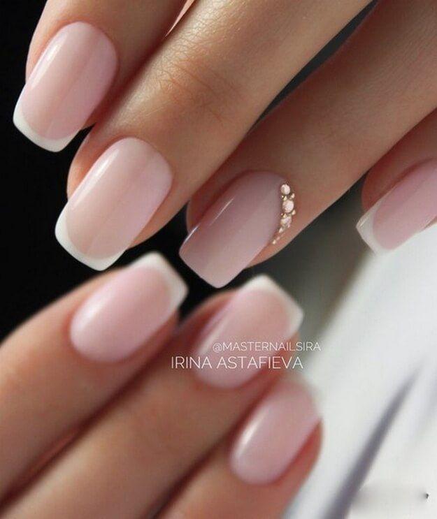 Nail Art #4376 | French nails | Wedding nails, Nails, Nail manicure