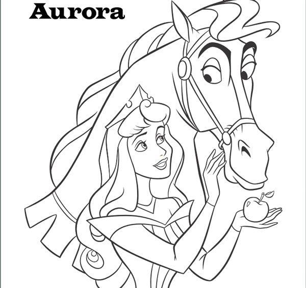 Dibujos para colorear de las princesas Disney, Aurora