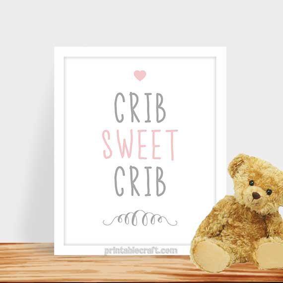 Baby Nursery Quote Baby Girl Nursery Decor Art by PrintableCraft