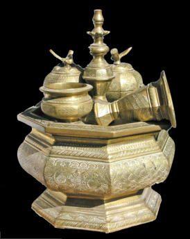 Sirih  indisch antiek koperwerk java