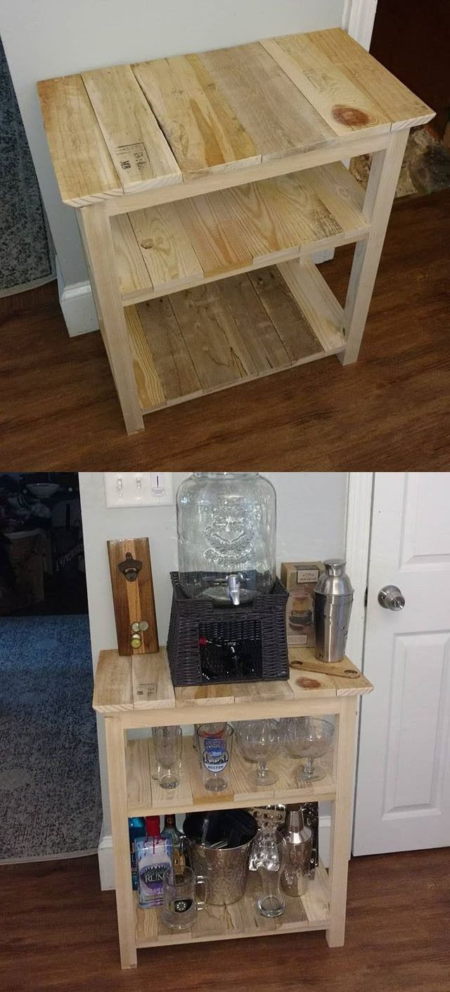 21 Outdoor Diy Projects Made From Wood Pallets Pallet Side Table Wood Pallet Projects Wood Pallets