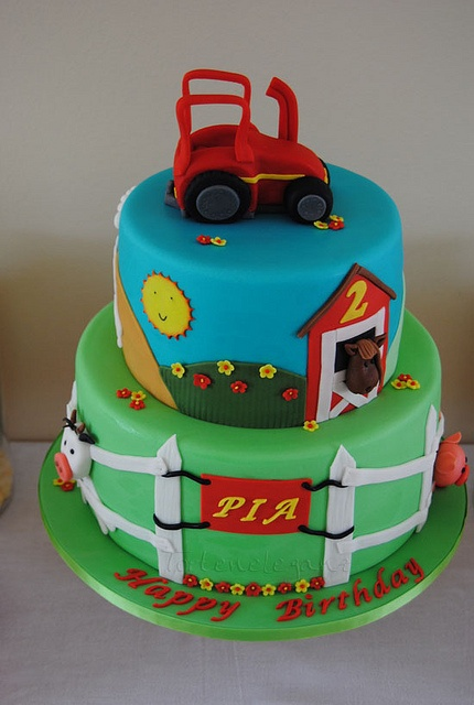 Tractor Cake Decorating : Best images about barnyard cakes on pinterest farm