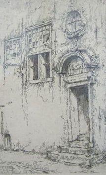 Nu in de #Catawiki veilingen: Anton Pieck (1895-1987) - Poortje bank van lening Amsterdam