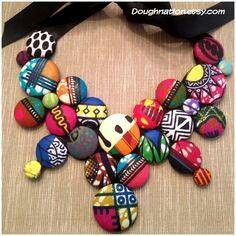 African patterned necklace